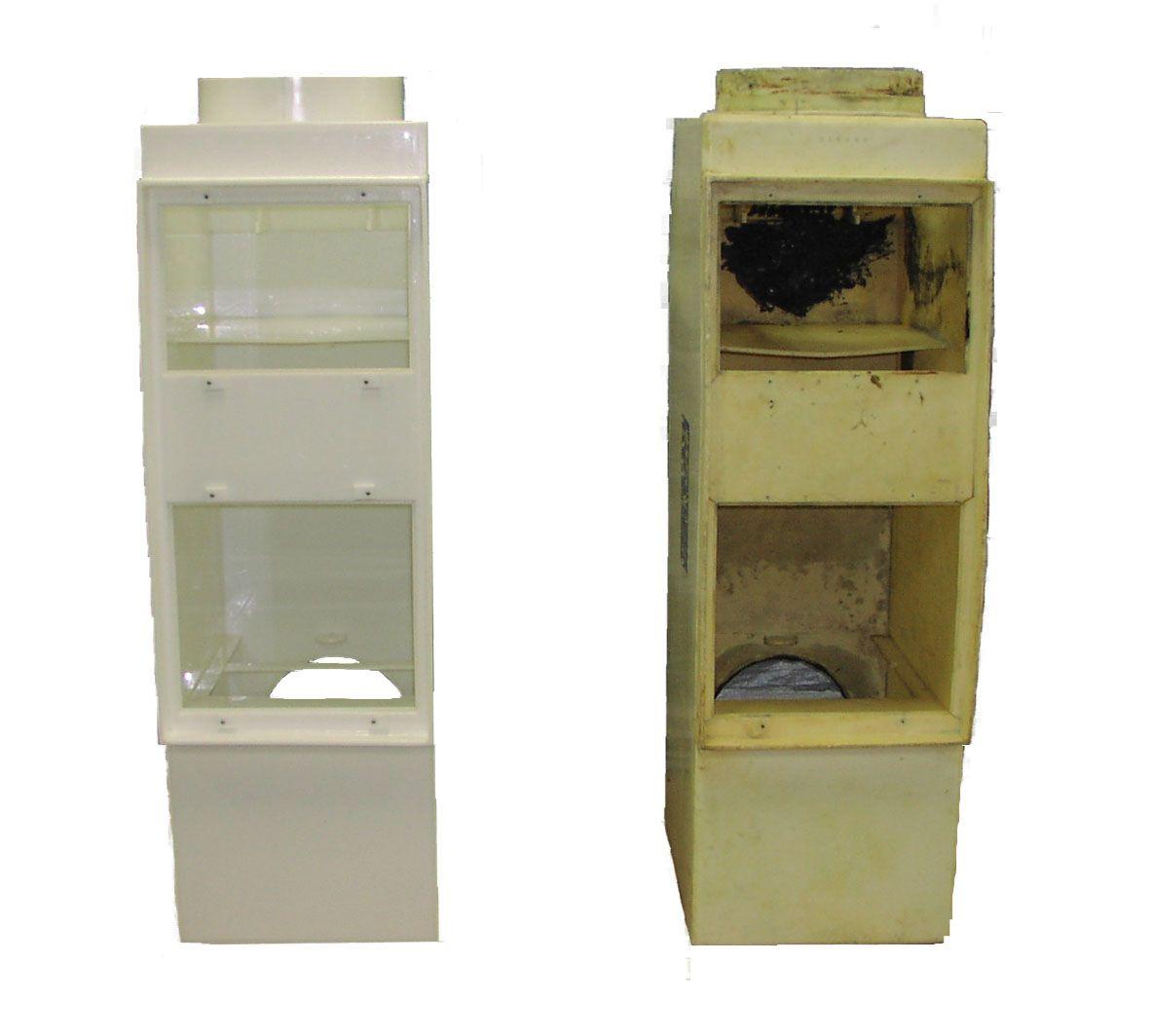 Polyethylene evaporator unit